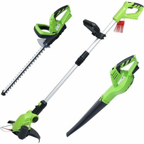 Juego de herramientas eléctricas para jardín sin cable 3 piezas