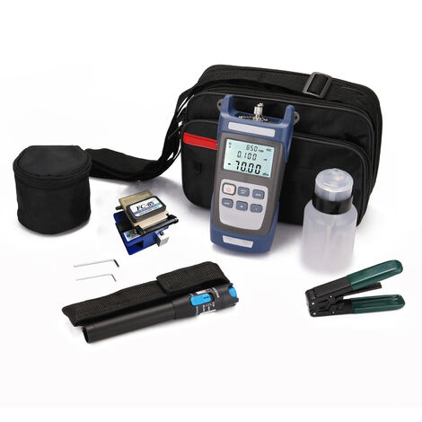 Juego de herramientas FTTH de fibra optica, con alicates pelacables y alicates Miller's Fiber Cleaver Medidor de potencia optica