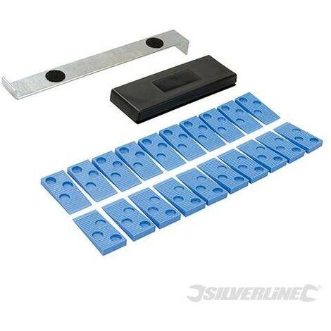 Juego de herramientas para instalacion de suelos, 22 pzas - Silverline - Neoferr..