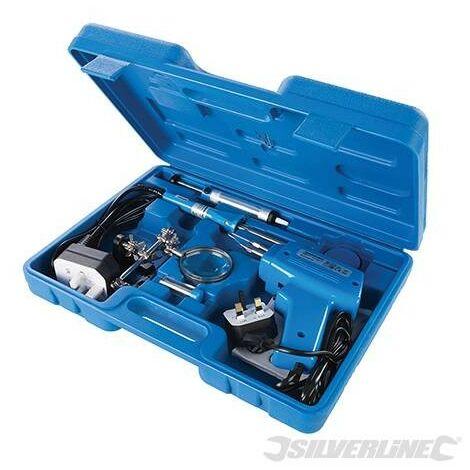 Juego de herramientas para soldadura eléctrica, 9 pzas, 100 W / 30 W