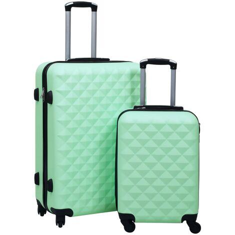 Juego de maletas rígidas con ruedas 2 piezas ABS verde menta