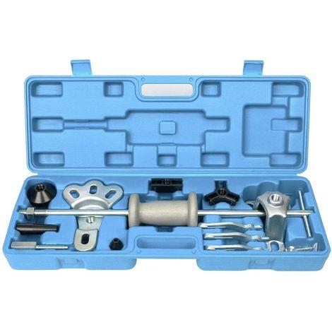 Juego de martillo deslizante con accesorios para extraer rodamientos, poleas, volantes, etc. 17 piezas
