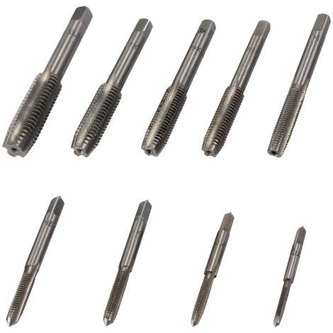 Juego de moldes y matrices de acero aleado, con llave ajustable