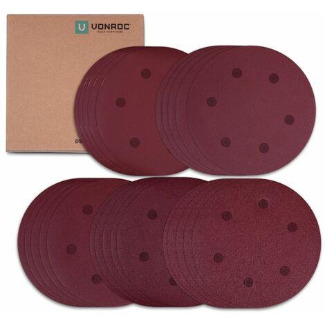 Juego de papel de lija 25 pcs - 225mm - Contiene granos K60, K120, K180, K240, K400