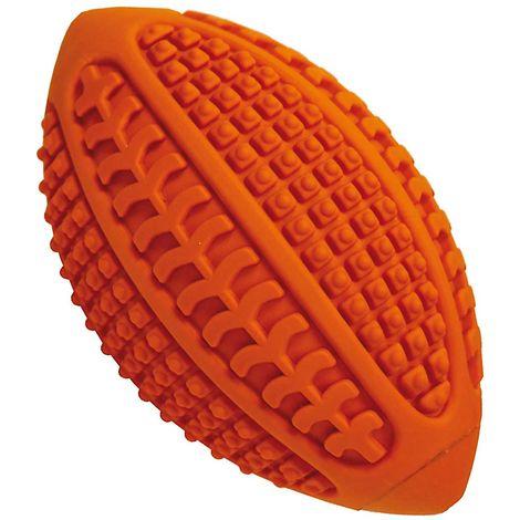 Juego de pelota de rugby de goma con sonidos para dientes de perro Ferribiella