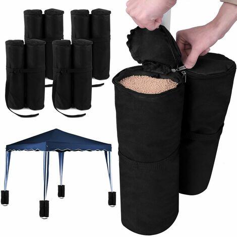 Juego de pesos para carpa para rellenar con arena 15 kg por elemento 4 elementos con 2 sacos cada uno
