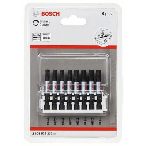 Juego de puntas de destornillador Impact Control de 8 piezas Bosch