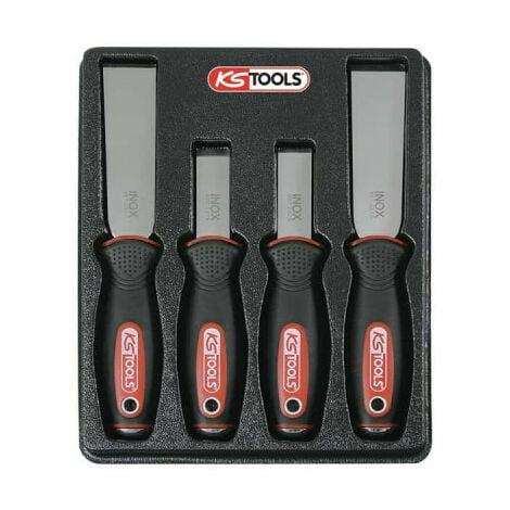 Juego de rasquetas KS TOOLS - Cuchillas de acero inoxidable - 4 uds - 907.2210