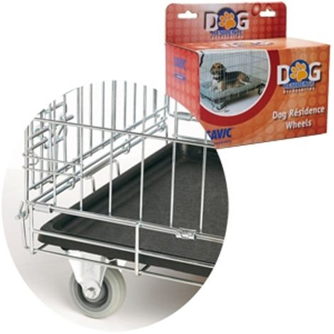 Juego de ruedas 2 + 2 para Dog Residence   Ruedas para jaula de perro   Ruedas para perrera