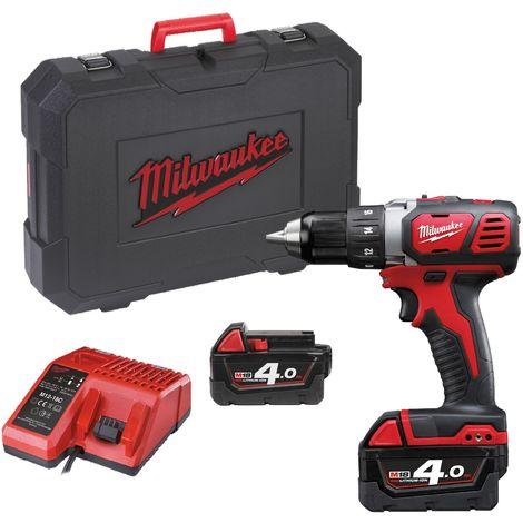 Juego de taladro / destornillador para batería de ión de litio Milwaukee M18 BDD-402C 18V (2x 4.0Ah batería) en estuche