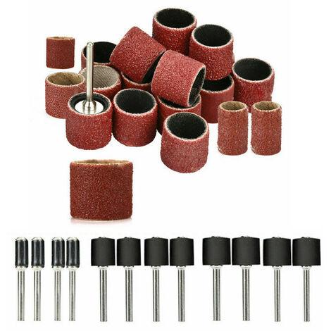 Juego de tambor de lijado, brocas para unas, accesorios Dremel pulidos, herramienta rotativa