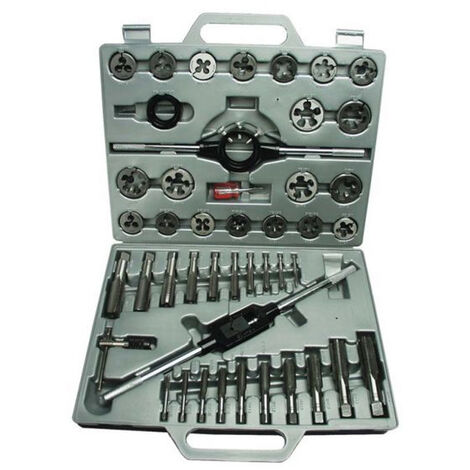 Juego de Terrajas y Machos 45 Pcs | Kit de herramientas para roscar o filetear