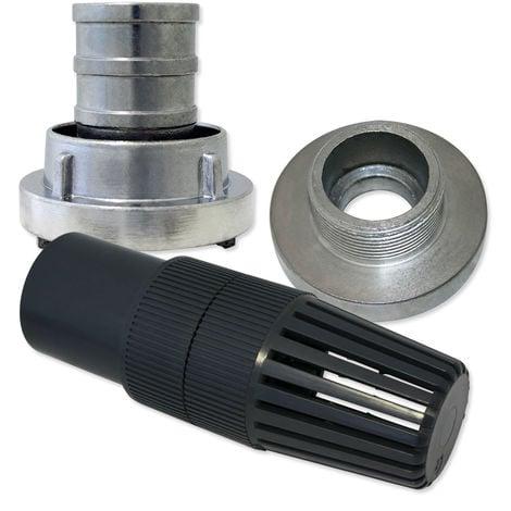 """Juego de válvulas de pie de 52mm (2"""") conexión de manguera de presión Storz C/52"""