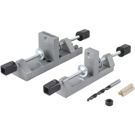 Maestro de ensamblaje metálico, para espigas de madera de 6, 8 y 10 mm, para planchas de 12 - 30 mm de grosor, para toda clase de unión de madera. - Wolfcraft - 3750000