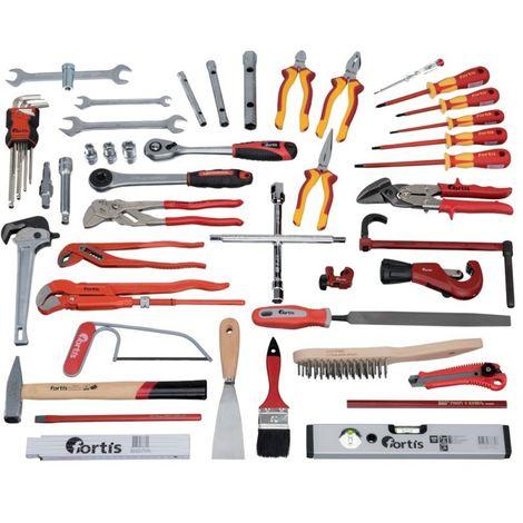 Juego herramientas fontanería 53 unidades FORTIS