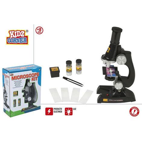 Juego/Kit Microscopio Electrico y con Luz Infantil para niños. Aprende divirtiendote Original/Moderno 195x90x245 CM.-Hogarymas-