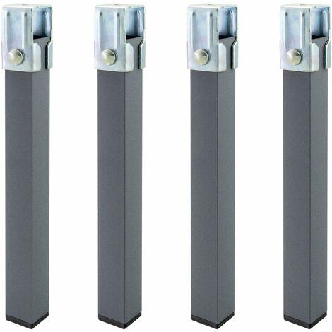 "main image of ""Juego patas somier cuadradas (4 unidades) tubo 30x30 mm. para somier / bastidor de 30 mm."""