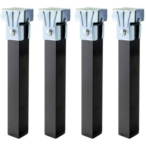 Juego patas somier cuadradas (4 unidades) tubo 30x30 mm. para somier / bastidor de 40 mm.