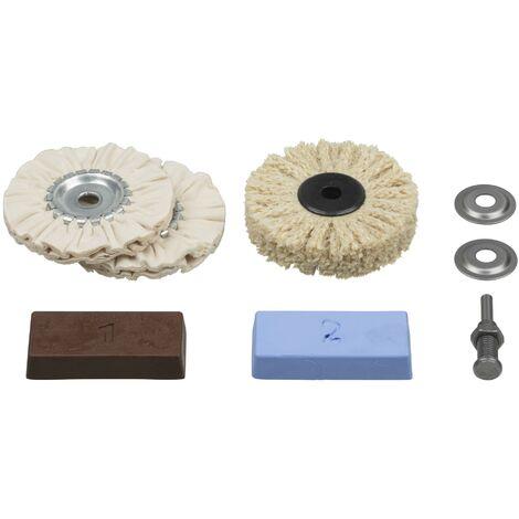 juego profesional de pulido para metales, plástico, marmol etc. - Wolfcraft - 2179000