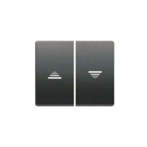 Juego teclas pulsador-interruptor persia antracita cosso BJC Mega 22765-AC