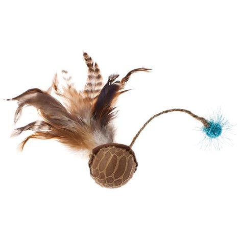 Jugar a la pelota de sonido con plumas para gatos