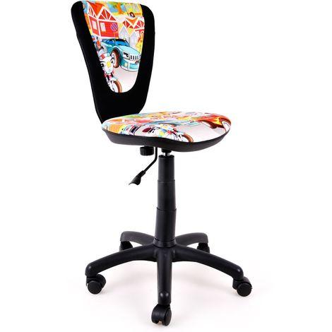 Jugend Dreh Stuhl Schreibtisch Sitz Büro Kinderzimmer Spielzimmer Auto Motiv