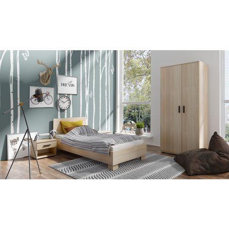Jugendzimmer Komplett - Set Egio, 3-teilig, Eiche