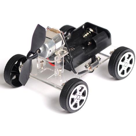 Juguete de cuerda educativo del bebe DIY del rompecabezas, robot auto del motor