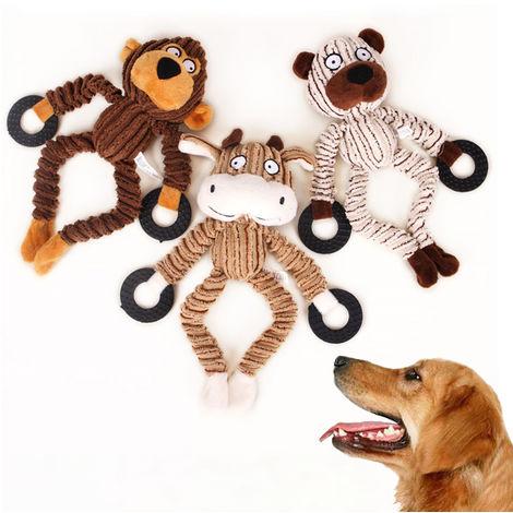 Juguete de perro chirriante, Limpieza de dientes para masticar perros,Mono animal