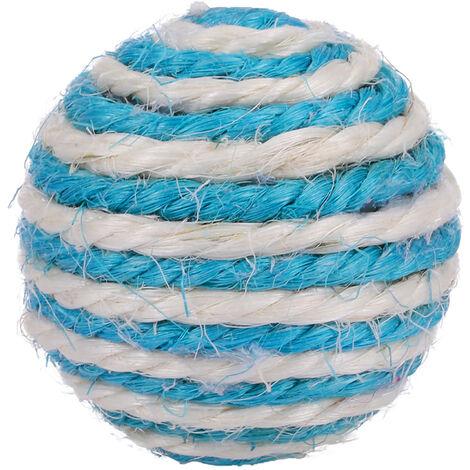Juguete para gatos, cuerda de sisal natural, 5 cm de di¨¢metro, azul oscuro o caqui enviado aleatoriamente