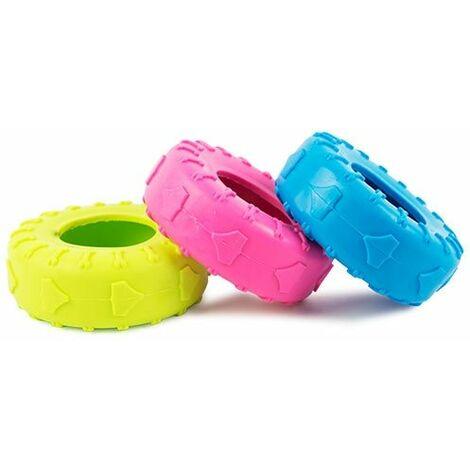 Juguete para perros Rueda de goma mordedor, disponible en tres colores aleatorios