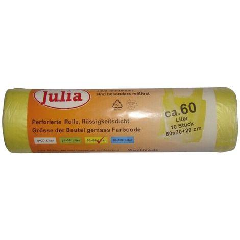 Julia Mülleimerbeutel gelb, ca. 60 Liter