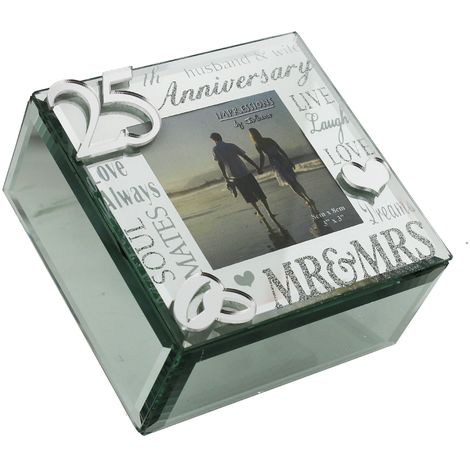 Juliana Mirror 3D Words 25th Anniversary Trinket Box