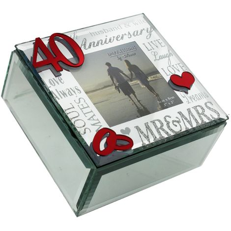 Juliana Mirror 3D Words 40th Anniversary Trinket Box