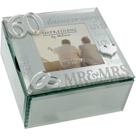 Juliana Mirror 3D Words 60th Anniversary Trinket Box