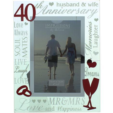 "Juliana Mirror 3D Words Anniversary Frame 4"" x 6"" - 40"