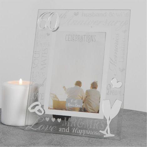 "Juliana Mirror 3D Words Anniversary Frame 4"" x 6"" - 60"
