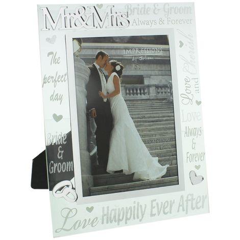 "Juliana Mirror 3D Words Wedding Frame 5"" x 7"""
