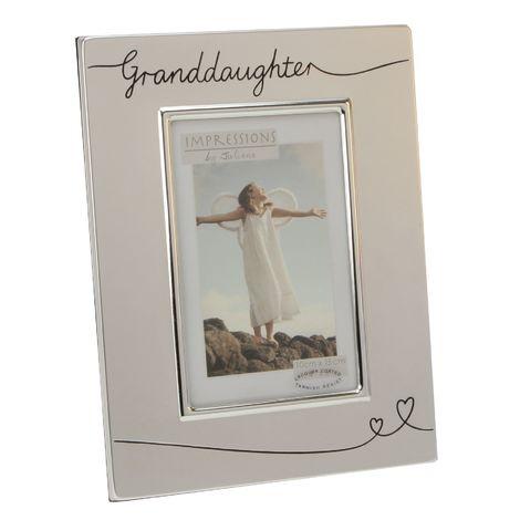 Juliana Photo Frame 2 tone Silverplated Granddaughter