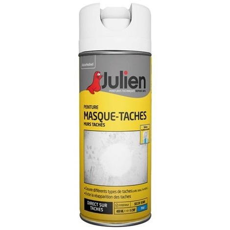JULIEN - Bombe peinture masque taches - 400 mL - blanc mat
