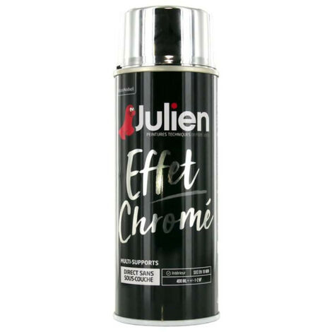 Julien effect spray paint metal chrome silver 400ml