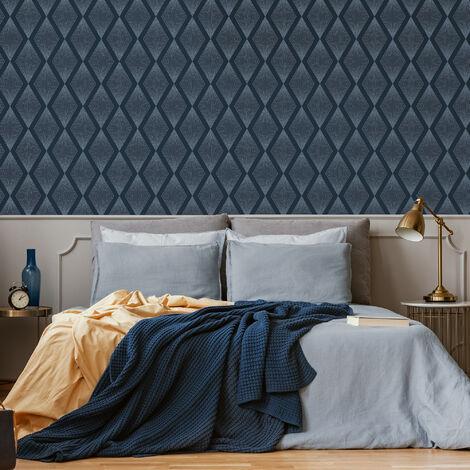 Julien MacDonald Chandelier Navy Geometric Wallpaper