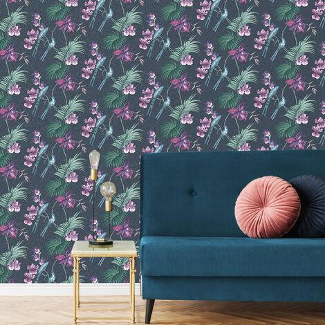 Julien MacDonald Utopia Navy Floral Wallpaper