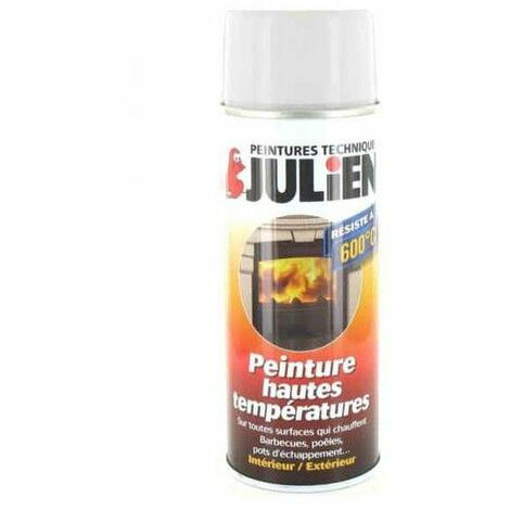 Julien pintura en aerosol negro 400ml alta temperatura