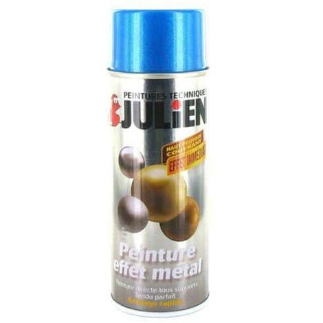 Julien spray paint hammered metal effect metallic blue 400ml