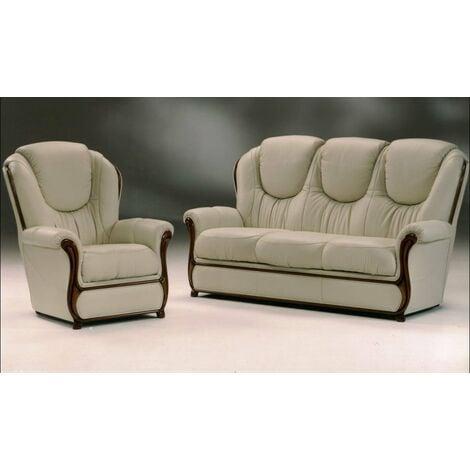 Juliet Genuine Italian Leather Sofa Settee