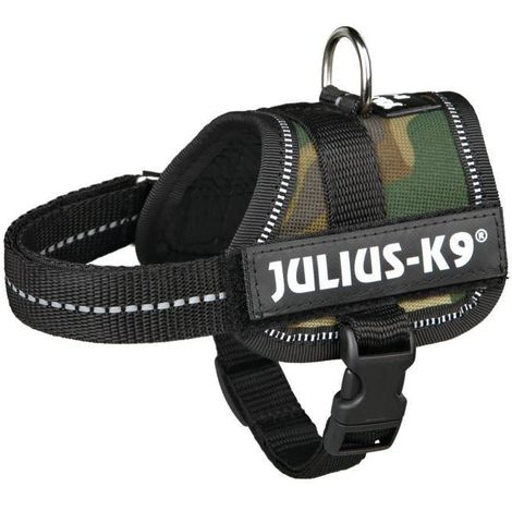 JULIUS-K9 Harnais Power Baby 1XS- 30-40cm camouflage compatible avec chien