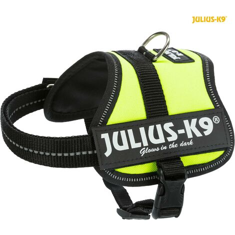 Julius K9 harnais Power Baby 2-XXS 33-45cm H18mm vert fluo