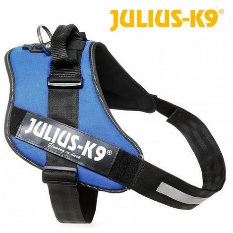 JULIUS K9 Harnais Power IDC 3?XL-XXL - 82?115 cm - 50 mm - Bleu - Pour chien
