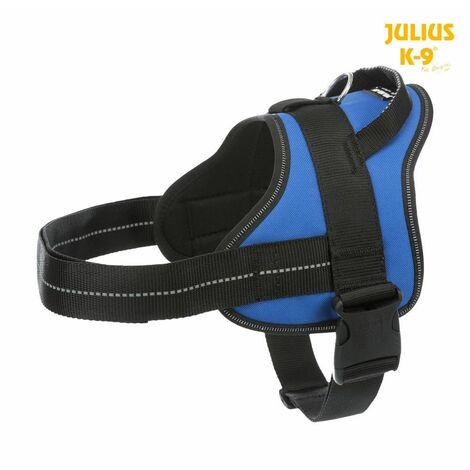 Julius-k9® harnais pure - 0/M-L: 58-76 cm/30 mm, bleu
